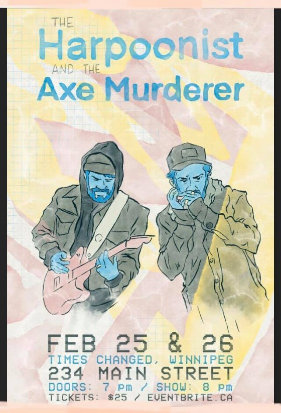 HarpAxe Winnipeg poster (Feb 25-26)
